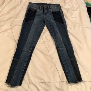 Blank NYC mixed denim low rise jeans